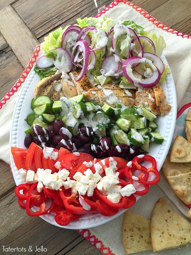 grilled chicken greek cobb salad