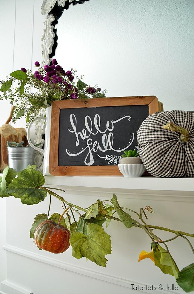 hello fall mantel ideas
