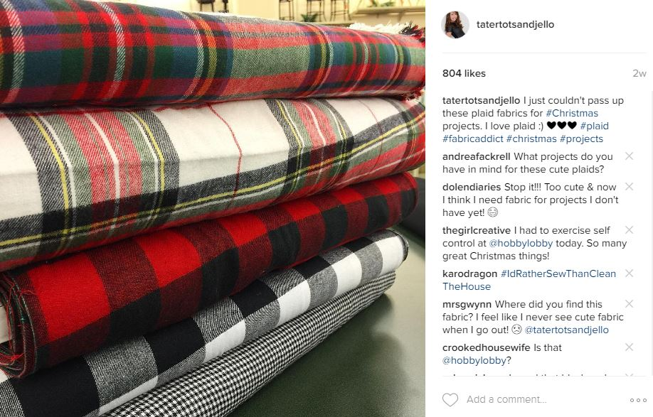 plaid flannel fabric for fall