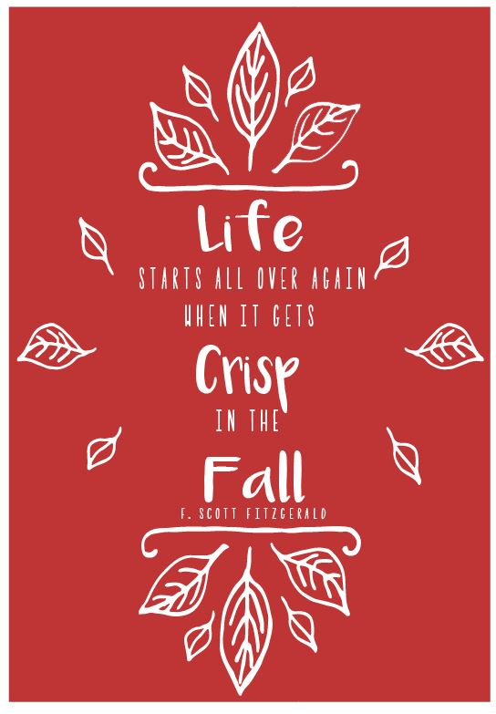 red autumn printable