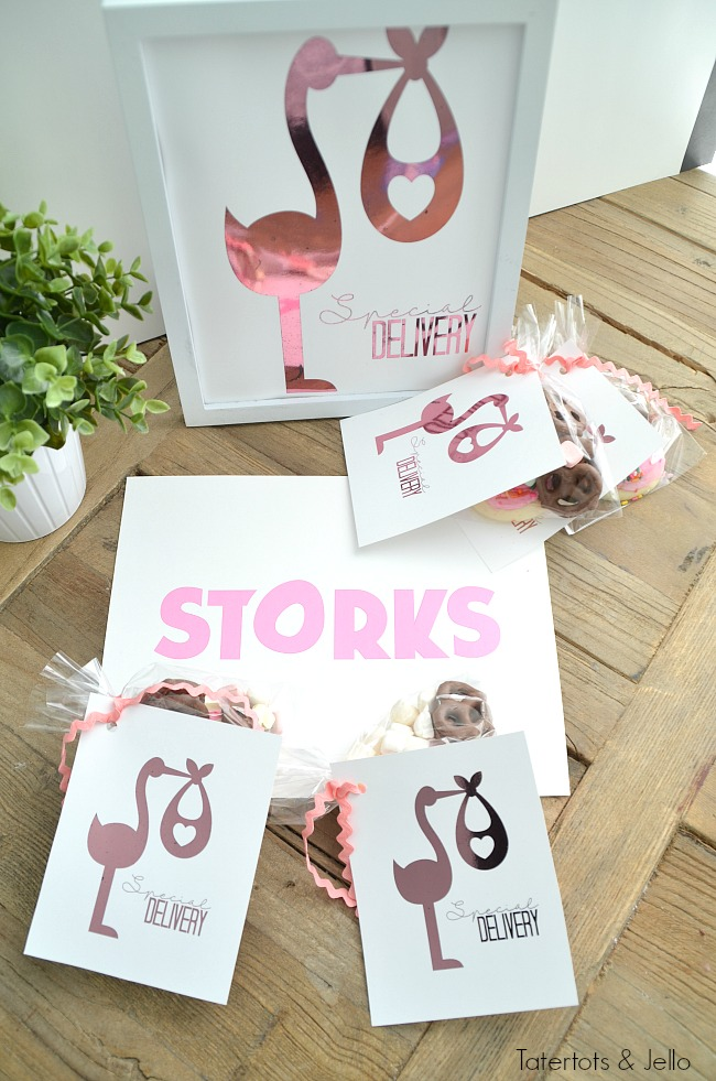 storks printable tags and sign