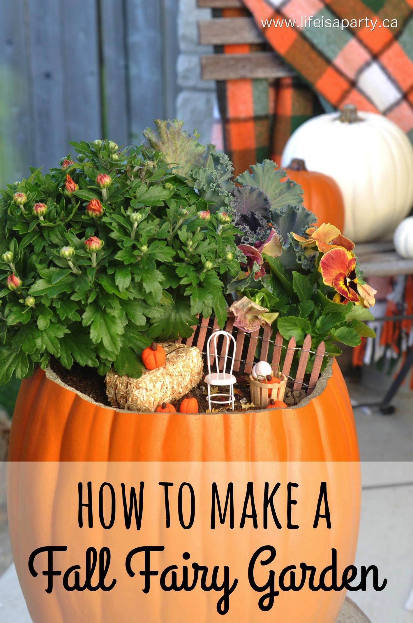 How to Make a Fall Fairy Garden