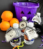 Hydrate Trick-or-Treaters with Halloween Water Bottles and Free Tags!