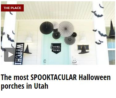 tips and ideas for decorating Halloween porches