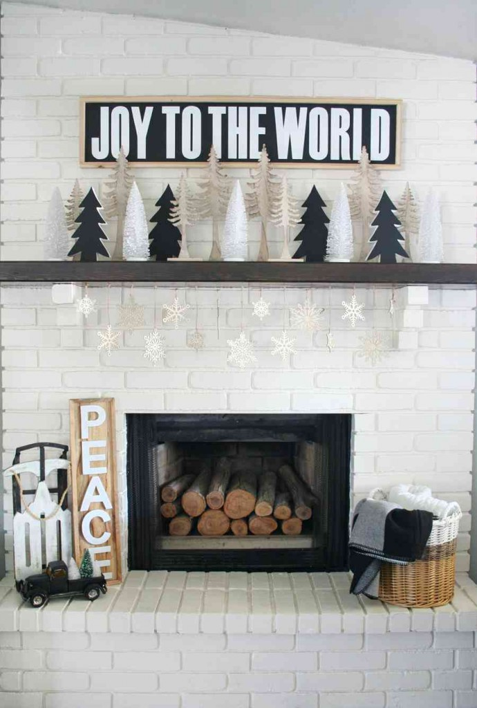 Tons of cute holiday mantel ideas. Plus over 100 ways to make your Christmas amazing!