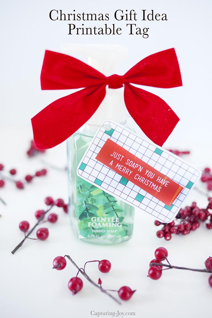Free Christmas Printable Gift Tags - Soap Gift Idea!