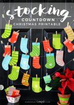 Stocking Countdown Christmas Printable
