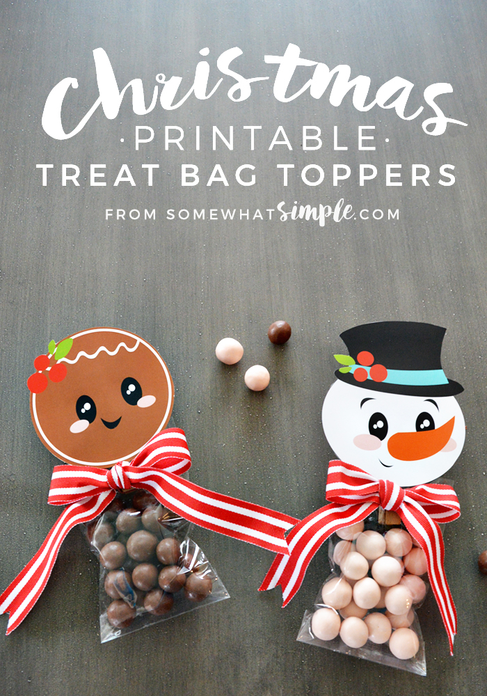 Christmas treat topper printables