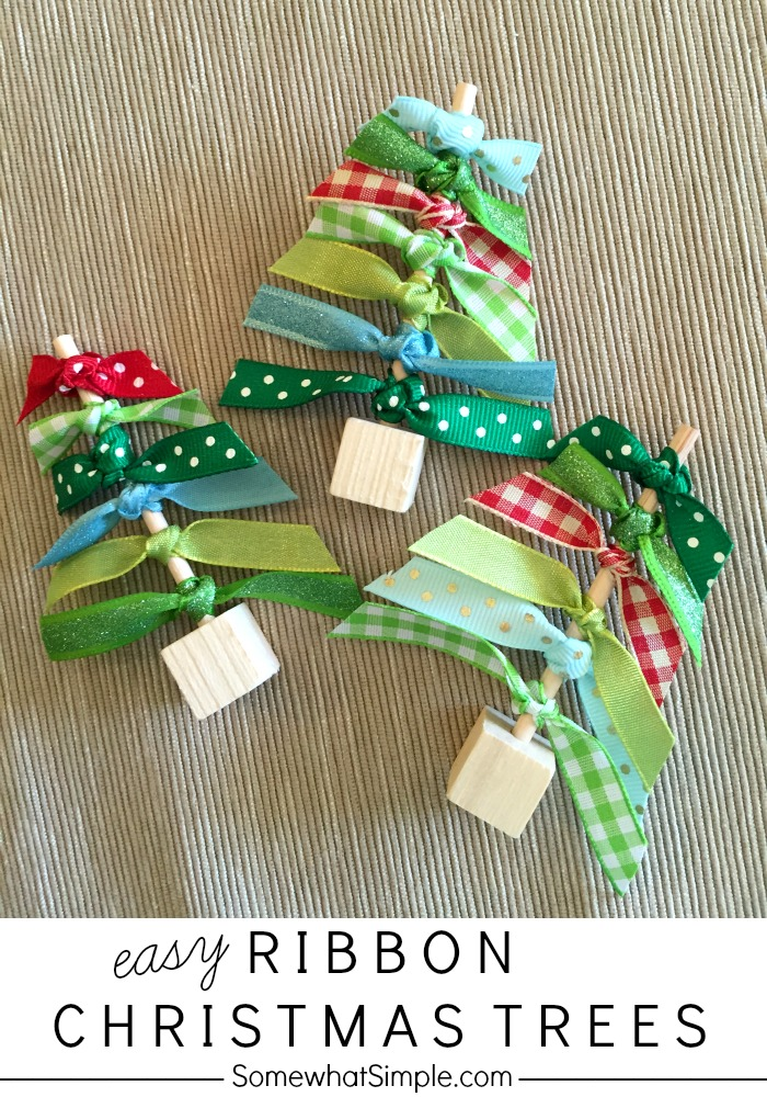 Easy Ribbon Craft Trees