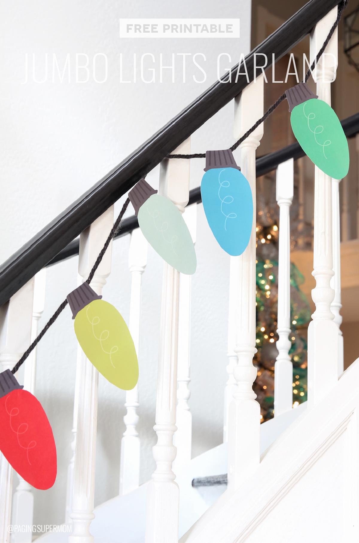 Free Printable Christmas Lights Garland Decorating