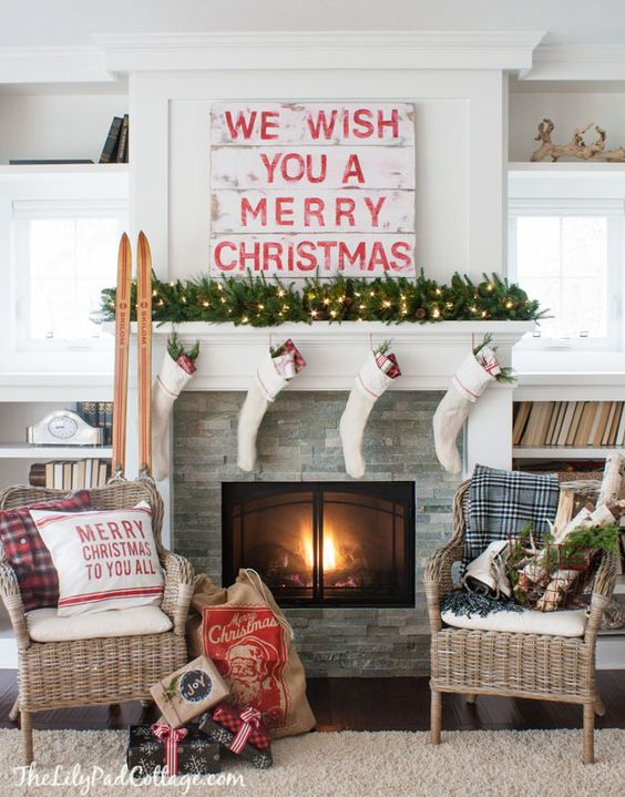 Cozy christmas decorating ideas.. Gorgeous holiday mantels plus over 100 ways to make the hoildays awesome at your house!