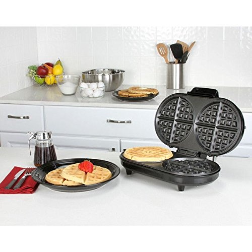 double waffle maker. Make twice as many waffles in the same amount of time