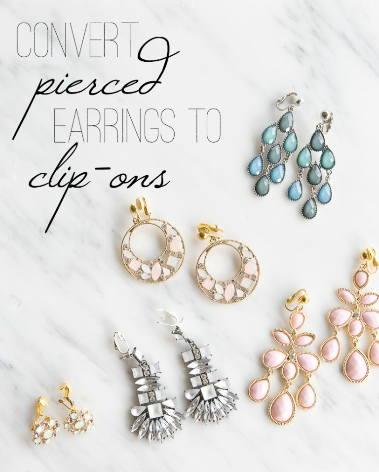 How to convert pierced earrings to clip on earrings