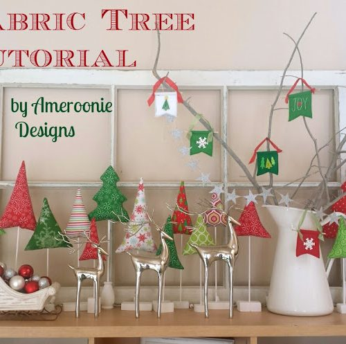 Fabric Christmas Tree Tutorial. Make cones out of felt, fill them with treats and hang them in your home for a fun way to count down the days to Christmas with your kids!!
