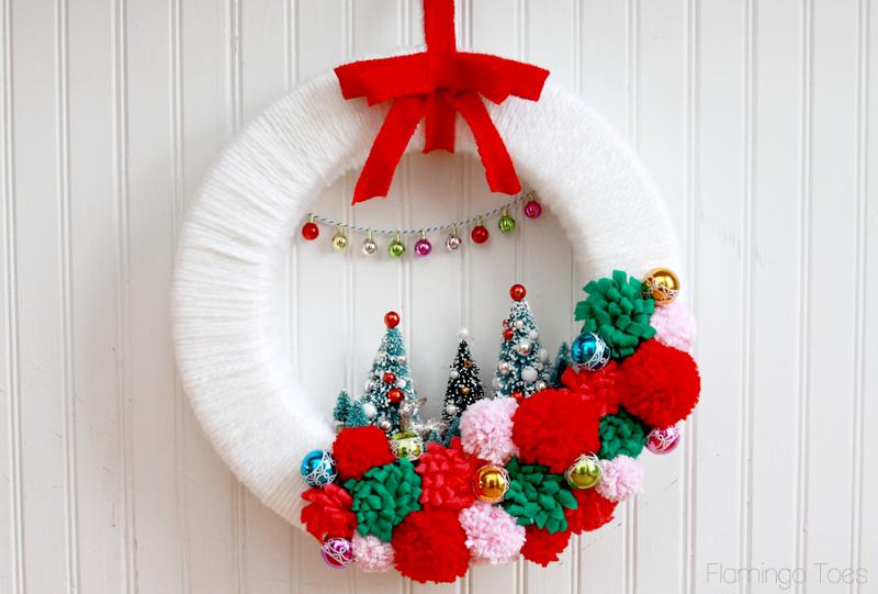 Vintage Retro Winter Wreath