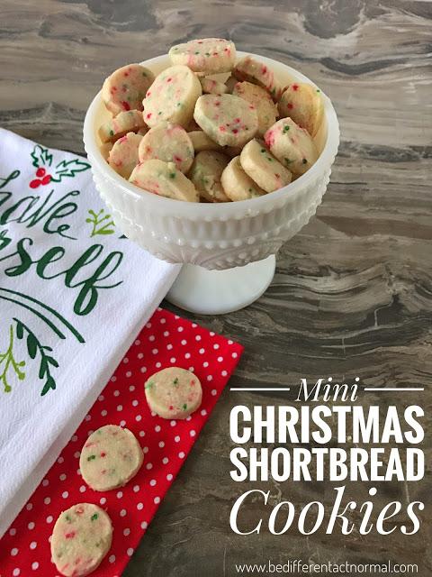 Mini Christmas Shortbread Cookies