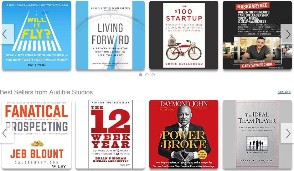 Audible audio books. Listening is the new reading