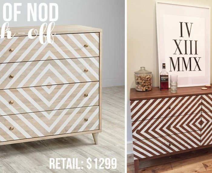 Land of Nod-inspired Dresser Knock-Off Makeover