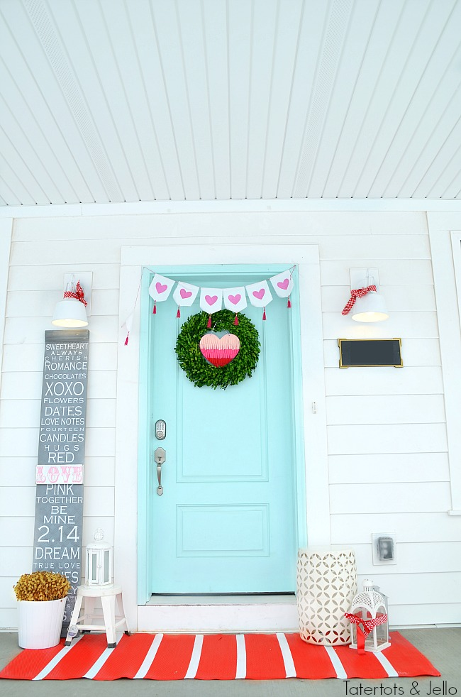 17 Farmhouse and Cottage Valentine's Day ideas. Fast and beautiful ways to bring the spirit of Valentine's Day into your home. Valentine's Day Porch Decorating IDeas. Four easy ways to bring valentine's day charm to your front door!