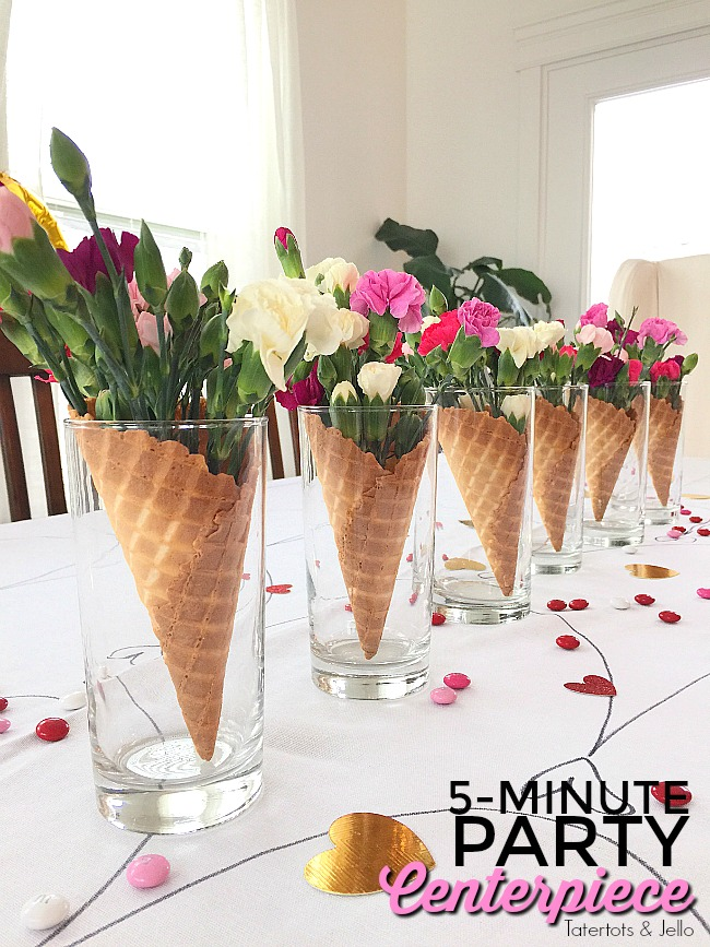 5 Minute Waffle Cone And Flower Galantines Party
