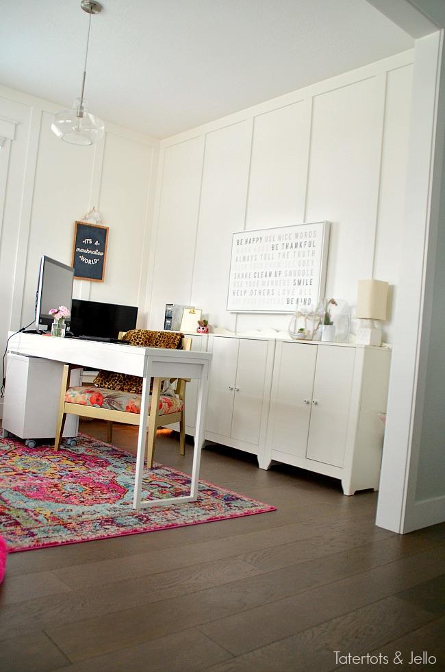 colorful farmhouse office ideas.