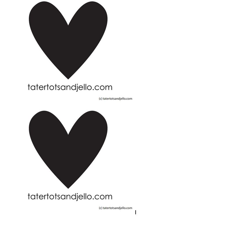 heart templates for magnet craft