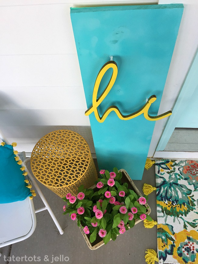 Colorful Happy 3-dimensional spring sign. Make a bright and happy sign for your home.