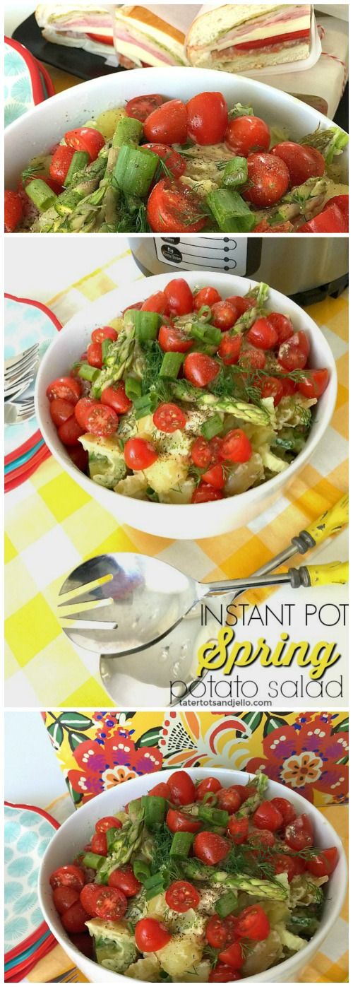 Instant Pot Potato Salad recipe. Make this salad in 10 minutes using your instant pot. Yummy spring salad.