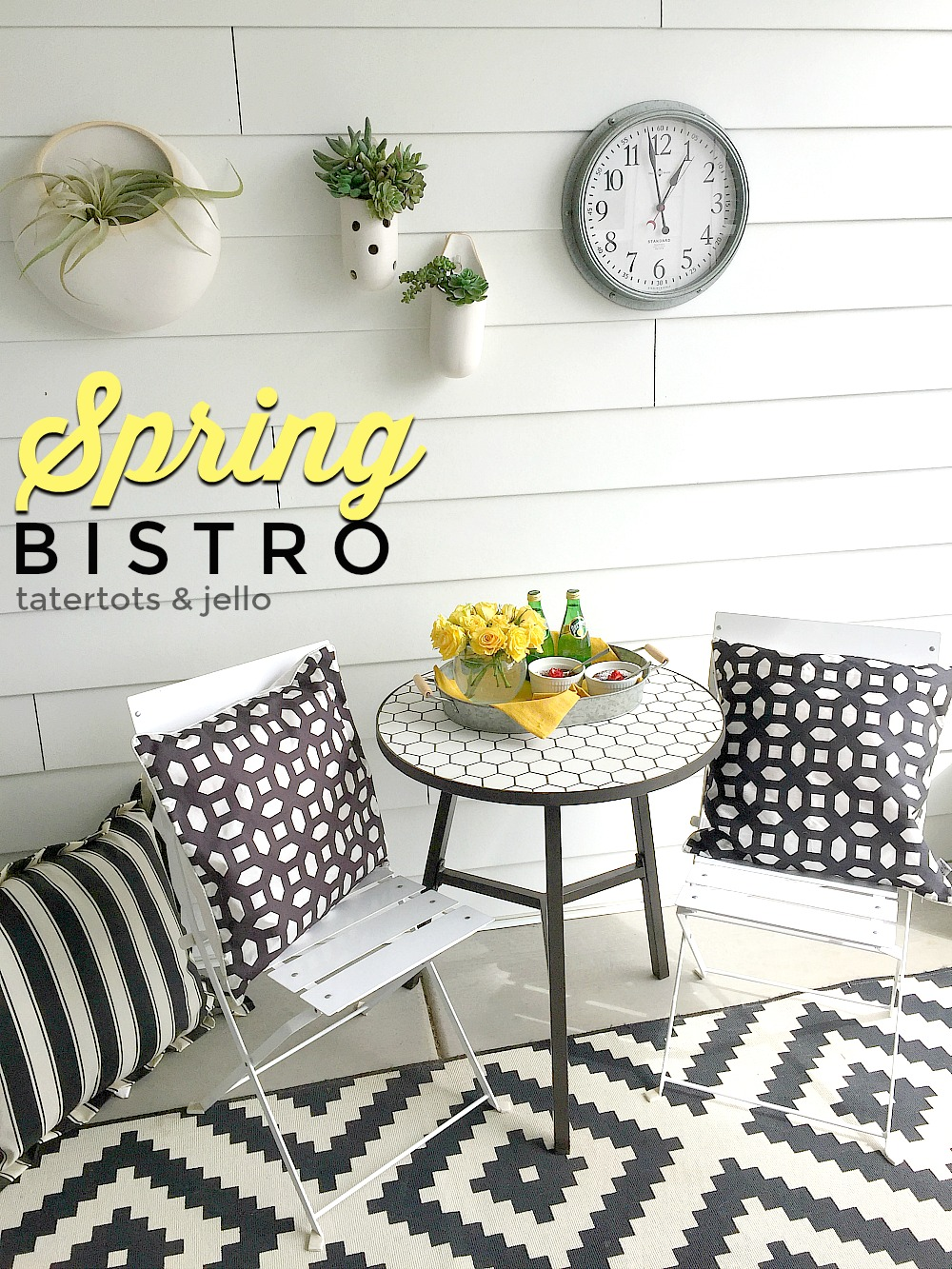 Spring Bistro Set. Make a place to enjoy a beautiful meal outdoors with BHG Live Better hex table.