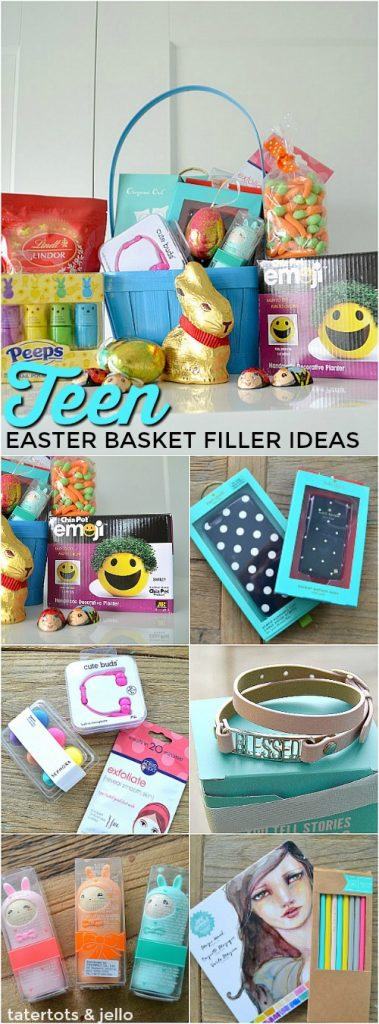 Teen Easter Basket Filer Ideas. Meaningful small gifts your teen will love.