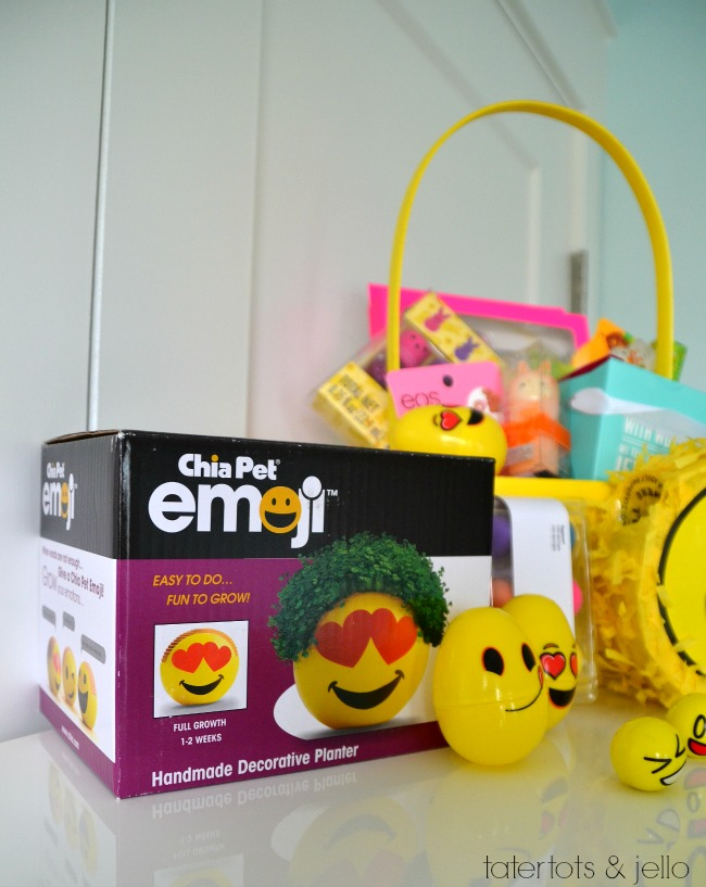 Tween Emoji Easter Basket. Lots of easy ideas that aren't all candy to give to YOUR tween!