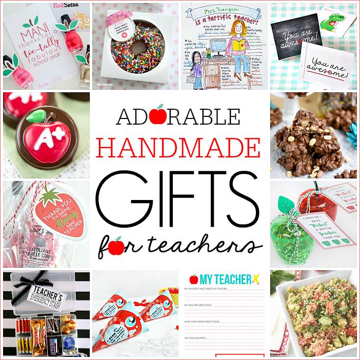 12 adorable handmade teacher gifts