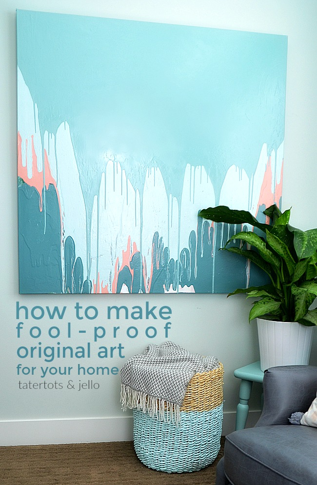 How to create fool-proof original art for your home. Painting tutorial.