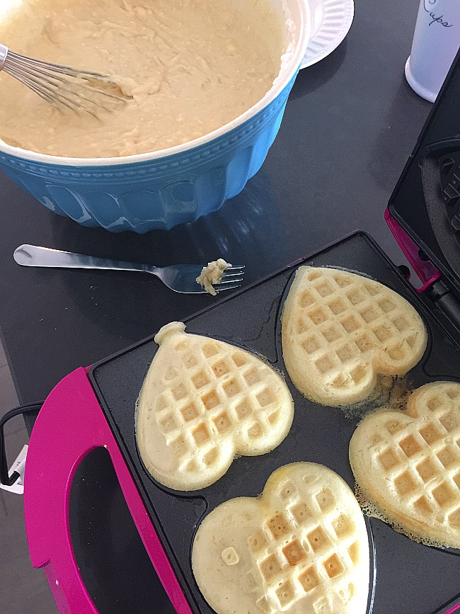 Recipe for the Fluffiest Waffles Ever. Seriously you will never go back to waffle mix again after your family has tasted the Fluffiest Waffles Ever!