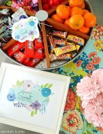 Sweet Mother's Day Lazy Susan Gift Idea and Watercolor Printables