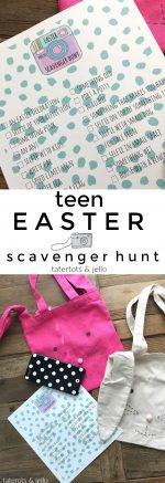 Easter Teen Photo Scavenger Hunt Game and Printable Checklist