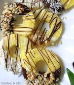 Chocolate Dipped Pineapple Slices – Snack Idea