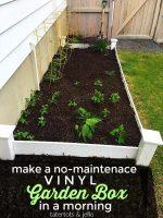 How to Make a No-Maintenance Vinyl Garden Box