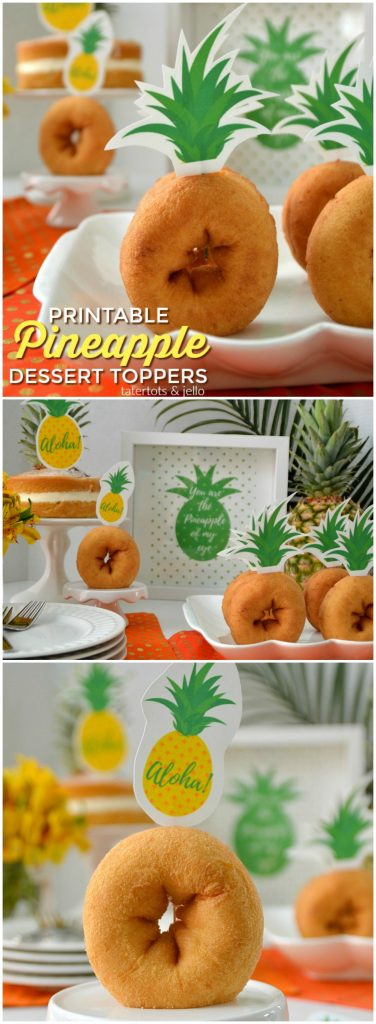 Pineapple Printable Cupcake Toppers