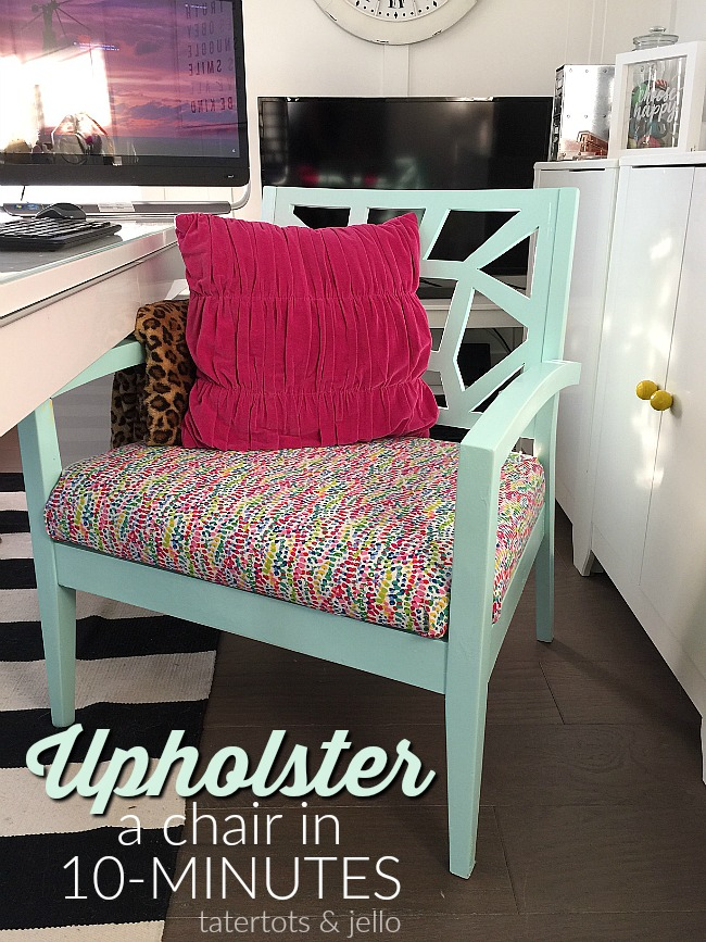 How to upholster a chair in 10 minutes. 5 easy steps!