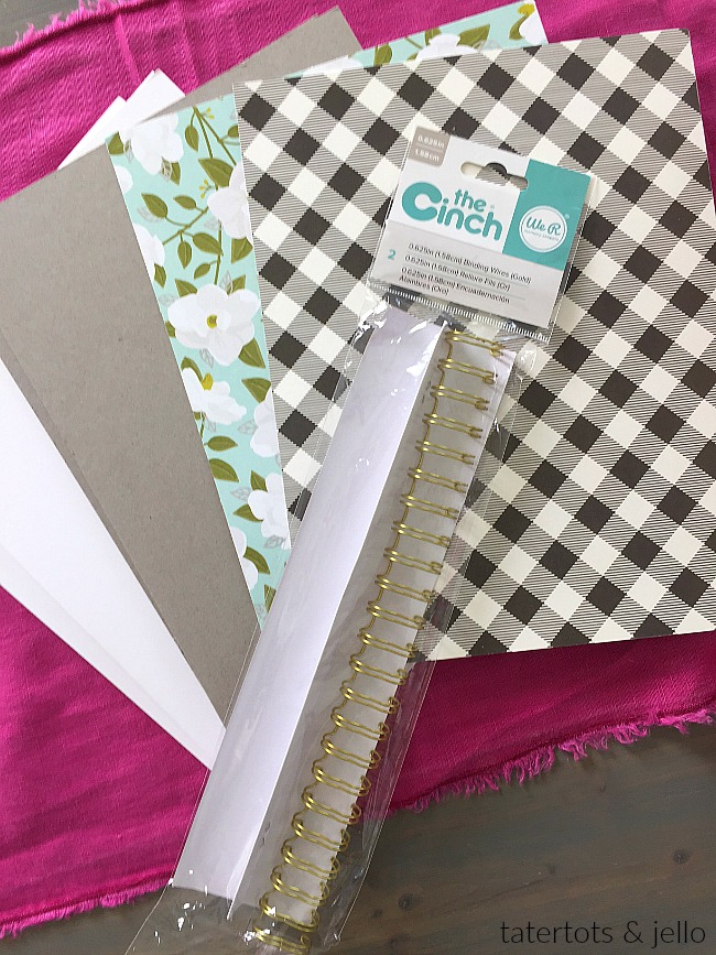 How to make a cinch-bound journal. Make a CUSTOM journal in minutes with this easy tutorial.