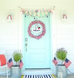 Patriotic Fourth of July Flag Wreath Tutorial