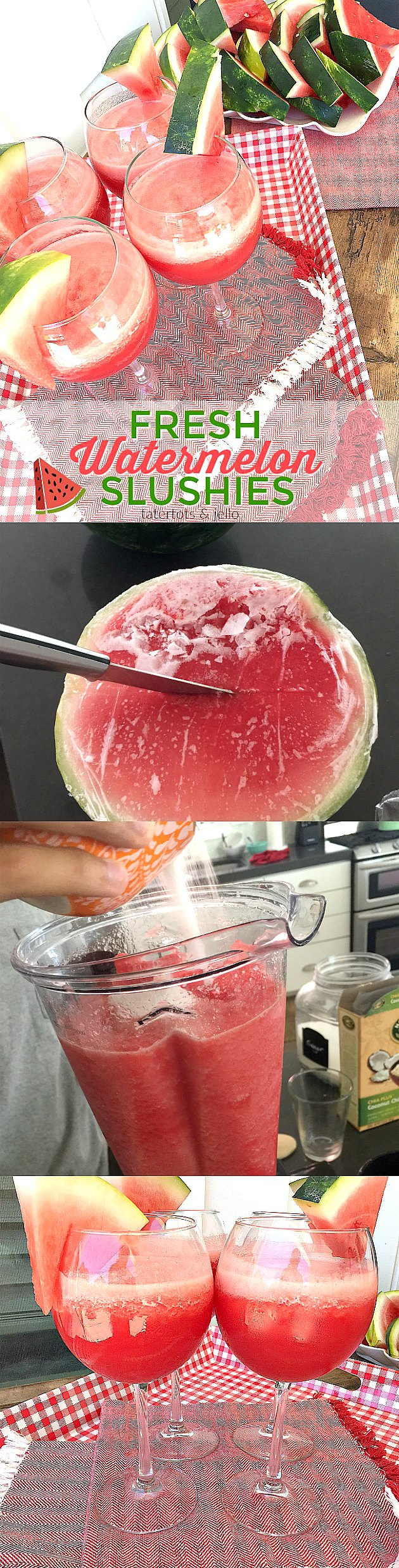 Make your Summer awesome by making Fresh Watermelon Slushies! Pop your watermelon in the freezer and get ready for a watermelon sensation. Perfect for any Summer party!