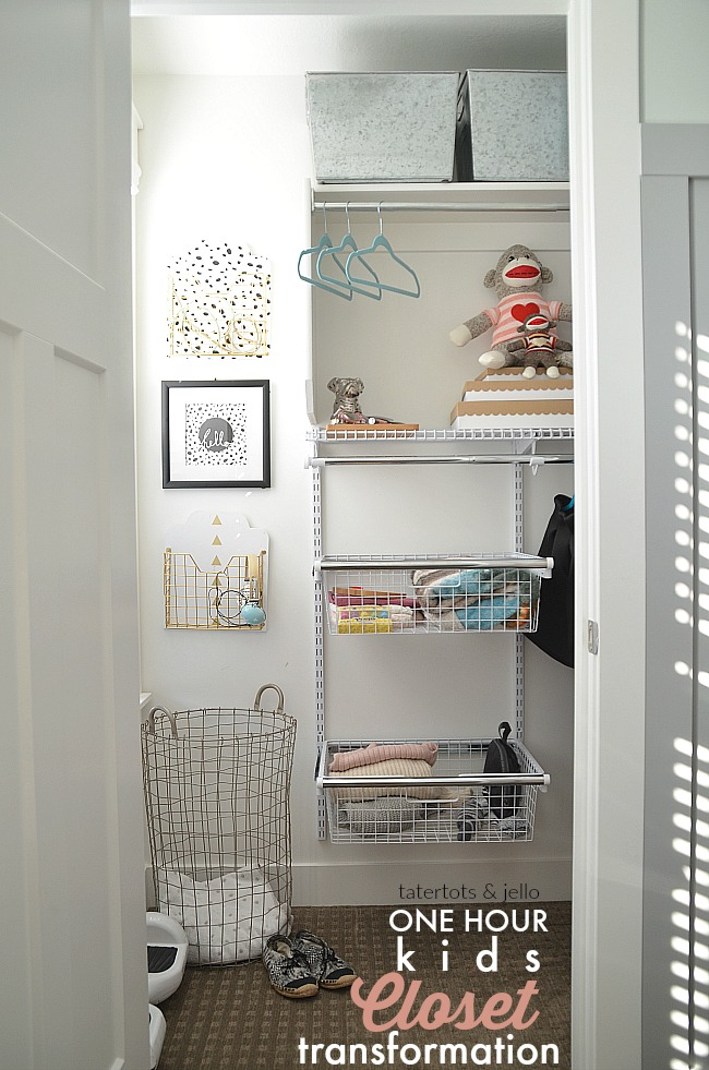 One Hour Kids Closet Transformation. Customize the perfect closet for your child with no cutting.