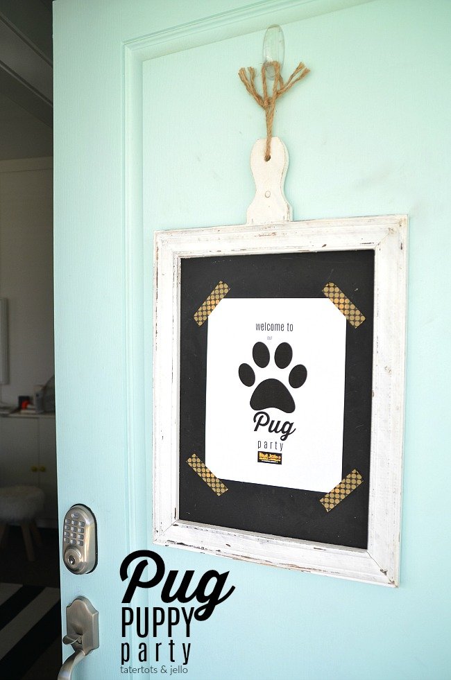 Pug Puppy Party Ideas. Throw a puppy party with food, printables and a cute puppy craft!