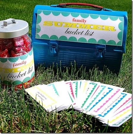 summer bucket list printables