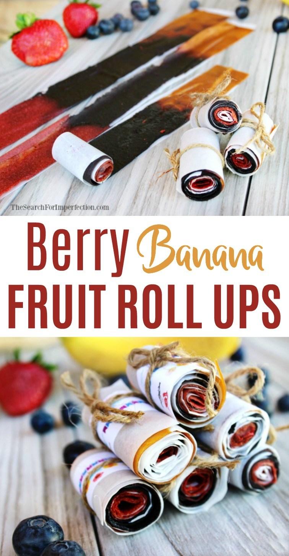 Berry Banana Fruit Roll Ups