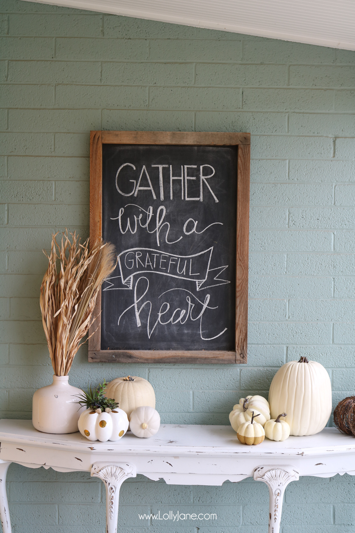 Fall porch at Lolly Jane Blog