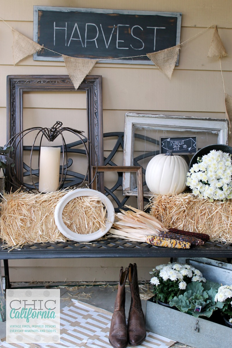 Harvest vintage fall porch at Chic California