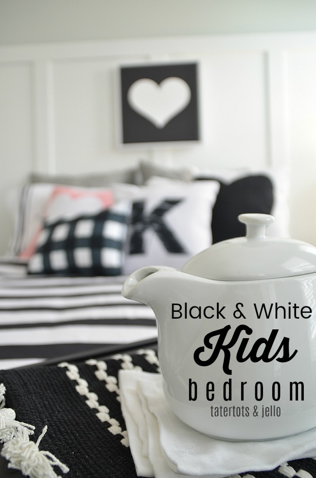 Create custom art for a black and white kids bedroom. Free printables that you upload and use for your home!